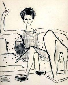 A Kenneth Paul Block illustration of Gloria Guinness Art And Illustration, Kunsthistorisches Museum, Graffiti Artwork, Inspiration Art, You Draw, Museum Of Fine Arts, Art Design, Oeuvre D'art, Illustrators