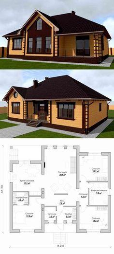 39 Trendy Modern House Plans Bungalow Dream Homes Simple House Plans, Dream House Plans, Modern House Plans, House Floor Plans, Dream Home Design, Home Design Plans, House Design, House Layout Plans, House Layouts