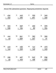 math worksheet : 2nd grade math teach kids subtraction with this fill in the  : Fill In The Blank Math Worksheets