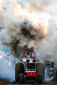 Black smoke till i am broke Truck And Tractor Pull, Red Tractor, Tractor Pulling, Full Pull, Truck Pulls, Antique Tractors, Vintage Tractors, Farmall Tractors, Heavy Equipment