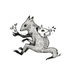 Faunwood Familiars — Faunwood Wolf Illustration, Ink Illustrations, Dark Art Drawings, Animal Drawings, Creepy Animals, Human Art, Creature Design, Kawaii, Art Sketchbook