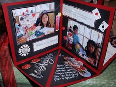 really cool idea for pop up scrapbooks