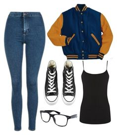 """""""I'd love to wear this at school tbh"""" by girl-in-love-m ❤ liked on Polyvore featuring Topshop, Converse, Warehouse and Retrò"""