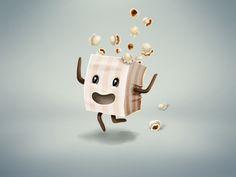 Sad popcorn on Behance