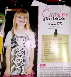 cursive-skeleton-shirt
