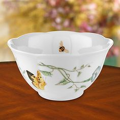 (4) Butterfly Meadow® Rice Bowl by Lenox, 16oz