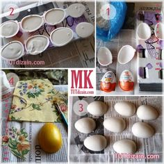 Diy Ostern, Craft Videos, Easter Crafts, Doilies, Easter Eggs, Cactus, Christmas Decorations, Handmade, Magnets
