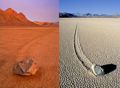 41 Most Mysterious and Interesting Places on Earth - Sailing Stones of death valley, California