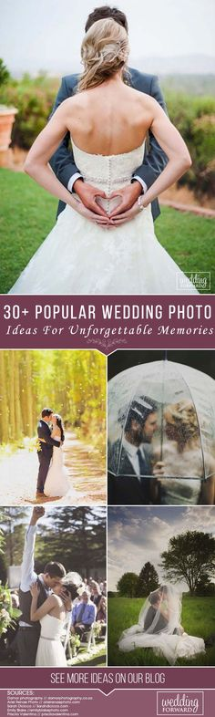 Do you want to have an amazing wedding album? Your photographer could tell you some well-turned poses and angles, but do not be afraid to steal a couple of wedding photo ideas from other brides. After all, those photos are all that's left to help you remember the wedding day after the party ends. We gathered some of the most popular wedding photography ideas to capture your big day memories.
