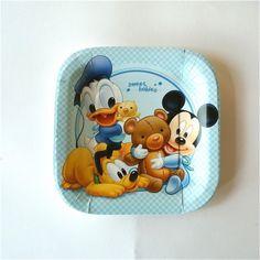 Plato Baby Mickey - Artículos de Fiesta