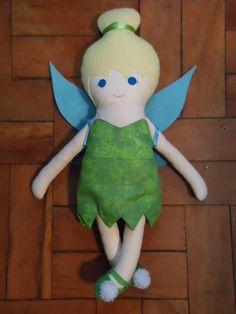 Tinkerbell - Boneca de Pano/Rag Doll