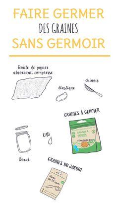 Le matériel pour faire pousser des graines germées sans germoir, un tuto à retrouver sur www.monpetitbalcon.fr