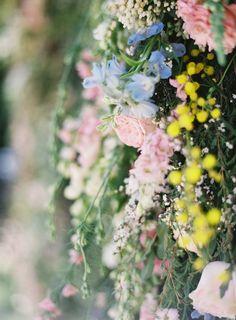 Floral ceremony backdrop idea