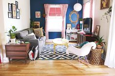 A collected living room / a beautiful mess At Home With Laura Armenta