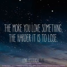 Quote from LOVE LETTERS TO THE DEAD by Ava Dellaire THIS WAS SUCH  A GOOD BOOK. Just... perfect.