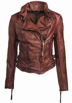 Long Sleeves Leather Jacket