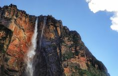 Angel Falls is a waterfall in Venezuela. It is the world's highest uninterrupted waterfall, with a height of 979 metres and a plunge of 807 metres. The waterfall drops over the edge of the Auyantepui mountain in the Canaima National Park, a UNESCO World Heritage site in the Gran Sabana region of Bolívar State. The