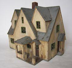 Three Story Gabled House, c1930 Rick Maccione-Dollhouse Builder www.dollhousemansions.com