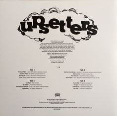 Lee Perry & His Upsetters - Roaring Lion (silk screen back cover)
