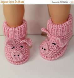 This is my Toddler Piggy Boots knitting pattern. I have never designed toddler footwear before because I was always terrified of baby slipping whilst taking thThat is my Toddler Piggy Boots knitting sample. I've by no means designed toddler footwear Booties Crochet, Crochet Baby Shoes, Newborn Crochet, Crochet Baby Booties, Crochet Slippers, Baby Knitting Patterns, Baby Patterns, Crochet Patterns, Crochet Pig