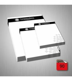 1 Colour (Black) Printing Notepads Neat, professional business stationery. Black printed notepads in a choice of three sizes.   Single colour (black) notepads A6, A5, A4 sizes Match size to other stationery 50 sheets per notebook Easy-tear top gluing Sturdy cardboard notebook backing Low cost design templates Full design service available http://fotosnipe.co.uk/notepads