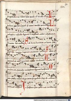 Cantionale, Geistliche Lieder mit Melodien. Münchner Marienklage Tegernsee, 3. Drittel 15. Jh. Cgm 716  Folio 174