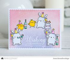 Mama Elephant Stamp Highlight: Lil' Party Animals | wishing you an awesome day | Anna Kossakovskaya