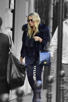 #navy // furs  women fashion #2dayslook.com #new #fashion #nice  www.2dayslook.com