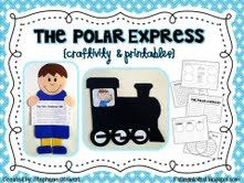 Polar express christmas printables and lessons for kingergarten