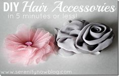 Fabric Bows and More: DIY Hair Accessories in 5 Minutes or Less by Seren...