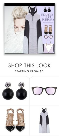 """""""Lilac and Black"""" by fassionista ❤ liked on Polyvore featuring Ray-Ban, Valentino, Les Cinq and Boohoo"""