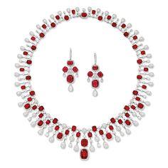 Emerald Necklace, Emerald Jewelry, Gems Jewelry, High Jewelry, Statement Jewelry, Jewellery, Pink Topaz, Diamond Bracelets, Beautiful Necklaces