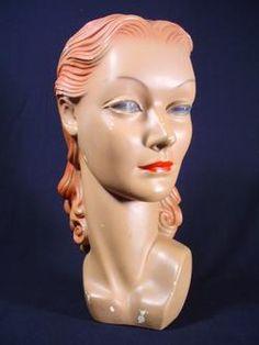 hat display mannequin, 1940s