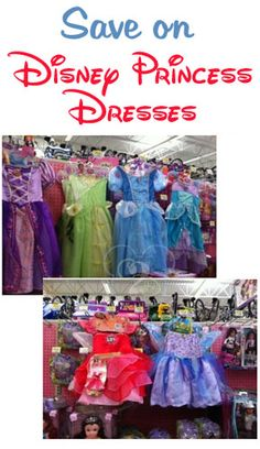 Disney Princess dresses are around $60 at Disney World!  Here's my tips on how to save money and still have your little girl dressed up like a Disney Princess. (And be sure to read all the comments for more ideas from readers as well)!