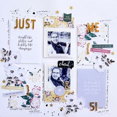 Hybrid How-To | Using Journal Cards to Design Hybrid Layouts | The Digital Press Scrapbook Sketches, Scrapbook Layouts, Scrapbooking, Hip Kit Club, Studio Calico, Smash Book, Journal Cards, Project Life, Being Used