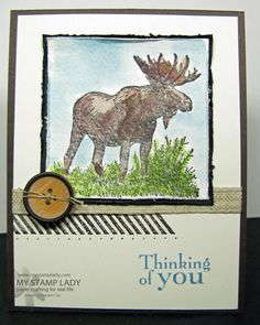 Walk In The Wild Handmade Masculine Card with the square Framelits and Stampin' Up!'s Magnetic Platform. www.mystamplady.com