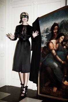 Oxana Moiseeva is Girly in Black for Petra Magazine by Agata Pospieszynska
