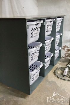 Use this simple DIY laundry basket dresser to keep your laundry room organized! Use this simple DIY laundry basket dresser to keep your laundry room organized! Laundry Basket Holder, Laundry Basket Dresser, Laundry Basket Organization, Laundry Room Organization, Laundry Room Design, Diy Organization, Laundry Baskets, Laundry Organizer Diy, Organizing