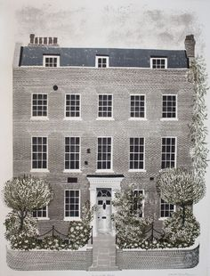 Kelmscott House, Chiswick 35/70   (Ten Topographical Lithographs) by David Gentleman