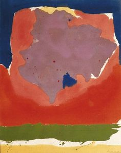 Helen Frankenthaler, Dusk.  This composition is very pleasing.  I think I could look at this for a long time.