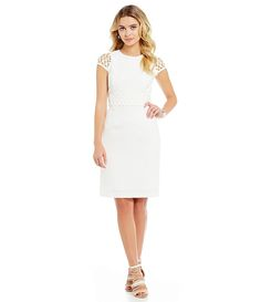 6a2321fd59b Antonio Melani Meredith Stretch Jacquard Dress Jacquard Dress