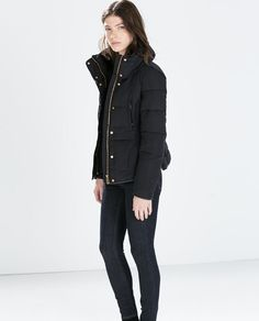 FITTED SHORT ANORAK from Zara