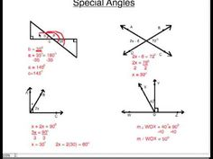 Angles ~ Complementary, Supplementary, Vertical & Adjacent