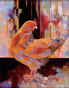 Chickenscape I Painting  - Chickenscape I Fine Art Print
