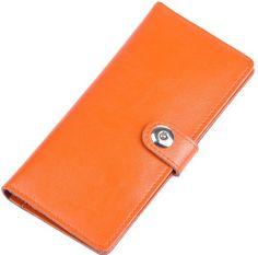 Heshe Fashion Leather Women Candy Color Clutch Purse Handbag Long Wallet