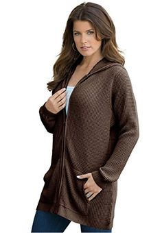 Plus Size Roaman's® Fabulous Thermal Hoodie We Wear, How To Wear, Plus Size Cardigans, Stylish Plus, Turtle Neck, Hoodies, Sweaters, Tunic, Sweater