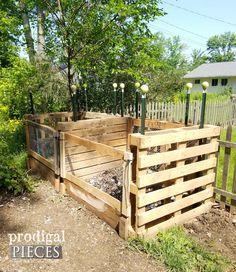 DIY Pallet Compost Bin by Prodigal Pieces | prodigalpieces.com