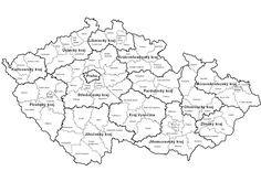 Mapa krajů ČR - Mapa ČR, České republiky School Humor, Scandal Abc, Funny Kids, Genealogy, Homeschool, Language, Diagram, Map, Teaching