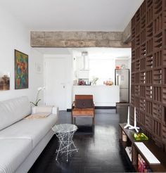 A Brazilian Apartment with Historic, Modernist Details in main interior design architecture  Category: