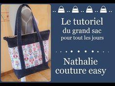 Le tutoriel du grand sac pour tout les jours - YouTube Couture Sewing, Louis Vuitton Damier, Tote Bag, Fabric, Pattern, Bags, Cocktails, Table, Fabric Tote Bags
